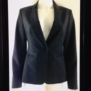 Ann Taylor Tailored Lined One Button Career Blazer